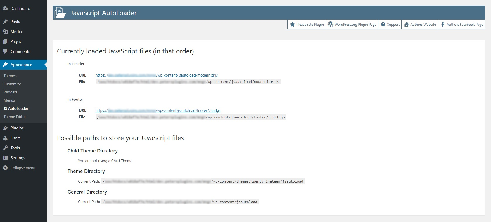 Load additional JavaScript files in WordPress | Peter's Plugins