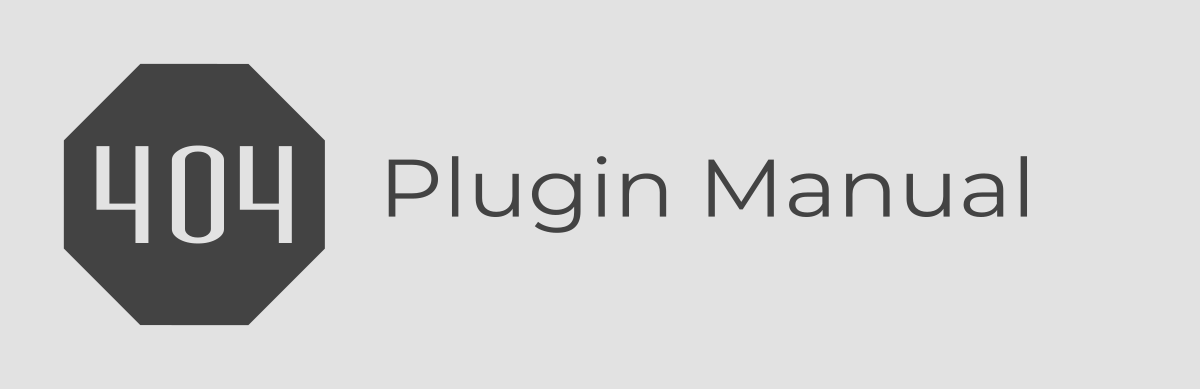 Plugin Manual for the free WordPress Plugin 404page