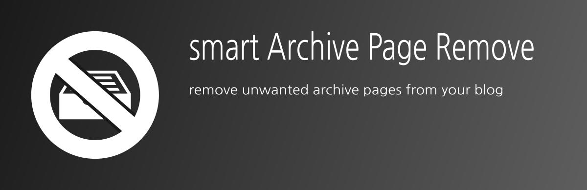 smart Archive Page Remove - Free WordPress Plugin
